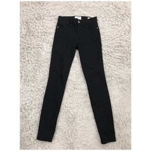 Frame Le High Skinny Jean Size 25 Film Noir Black